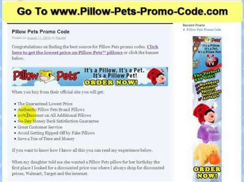 Pillow Pet Promo Code uploaded by hotproductsreviews