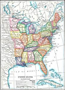 Map Of Eastern Us States by Map Eastern United States