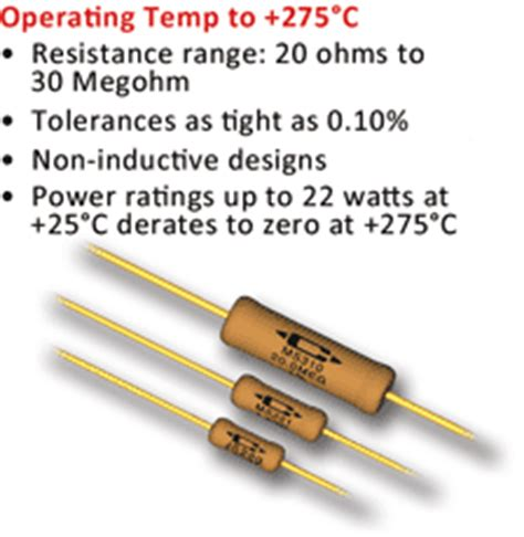 ceramic resistor temperature rating caddock s high temperature resistors