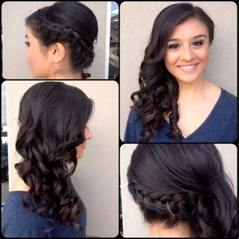 prom hairstyles side curls with braid pinterest discover and save creative ideas