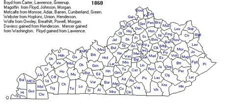 kentucky map formation kentucky county formation map map
