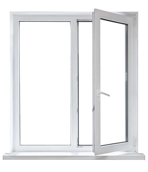 white plastic double door window isolated  white