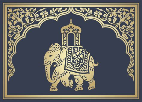 indian pattern vector ai indian patterns with elephants vector set 09 vector