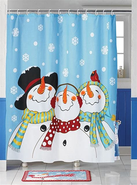 Snowman Kitchen Curtains Frosty Friends Snowman Shower Curtain Home Kitchen Cortinas