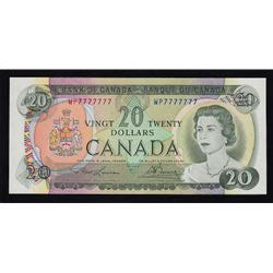 twenty five dollars special serial numbers 1969 bank of canada twenty five