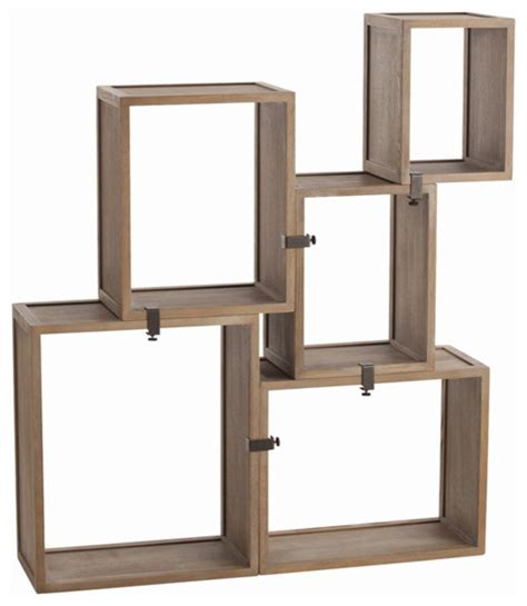 modular wall shelves arteriors home stockard oak modular shelves 5353