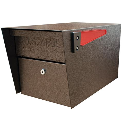 mailbox with mail mail manager locking post mount mailbox with