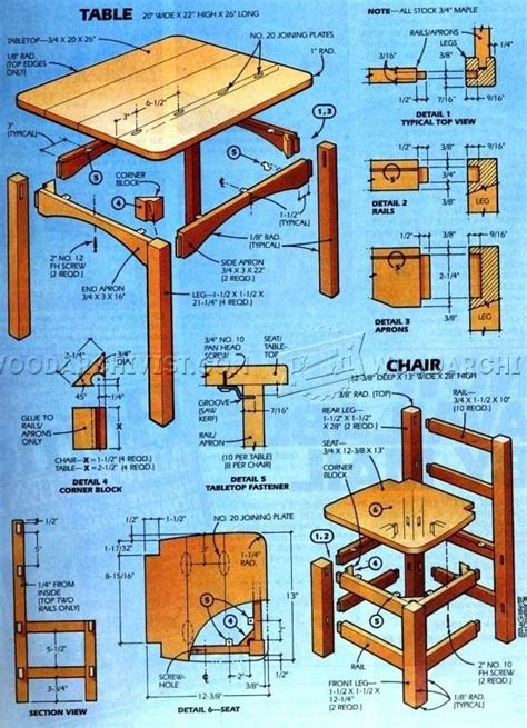 plan set childrens wood table and chair plans chairs seating
