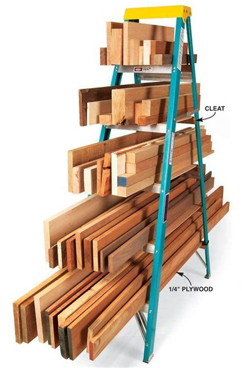 Ladder Storage Racks For Garage by Ladder Lumber Rack Lumber Rack Organizing And 30th