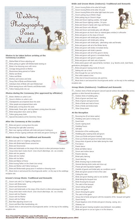 Wedding Photography Checklist by Wedding Photography Checklists Them Wedding And If
