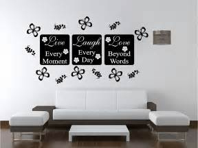 wall hangings for bedrooms live love wall art sticker quote bedroom lounge kitchen ebay