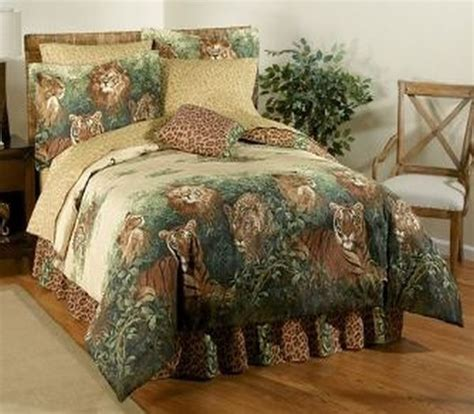 lion comforter set wild cats jungle lion tiger animal print leopard