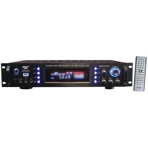 pyle 3000w hybrid home stereo receiver lifier with am