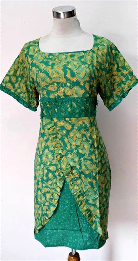 Baju Batik New Cantik by Trend Model Baju Dress Cantik Terbaru 2015