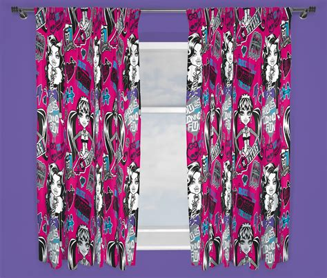 monster high curtains uk new monster high fear 66 x 72 inch curtains girls