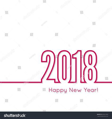 creative happy new year 2018 creative happy new year 2018 design stock vector 693221965