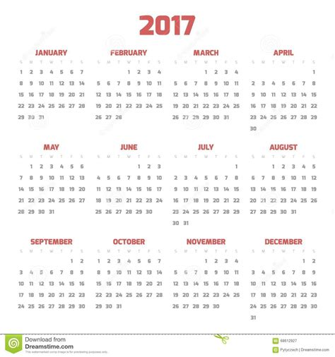 Calendar By Week Number 2017 Calendar With Week Numbers 2017 Calendar Template