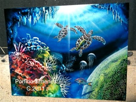 spray paint coral reefs coralreef spray paint artworks