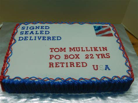 retirement cake decorations retirement cake post office post cake