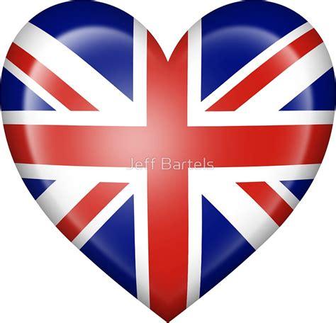Union Jack Home Decor by Quot Union Jack British Heart Flag Quot Stickers By Jeff Bartels