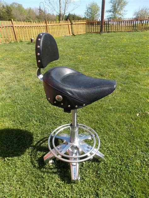Motorcycle Seat Bar Stool by Biker Motorcycle Style Seat Pneumatic Bar Stool Shop