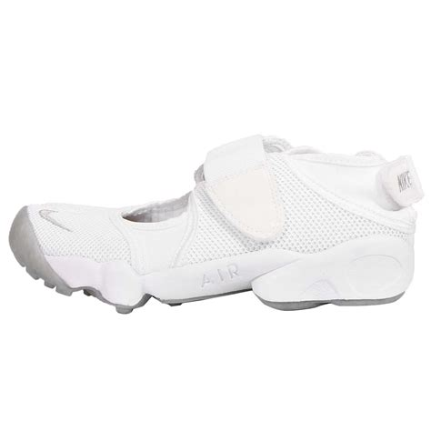 velcro athletic shoes for womens wmns nike air rift white grey womens fashion sneakers