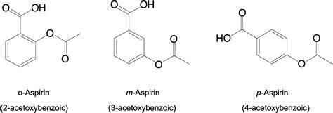 positional isomers  aspirin  equally potent