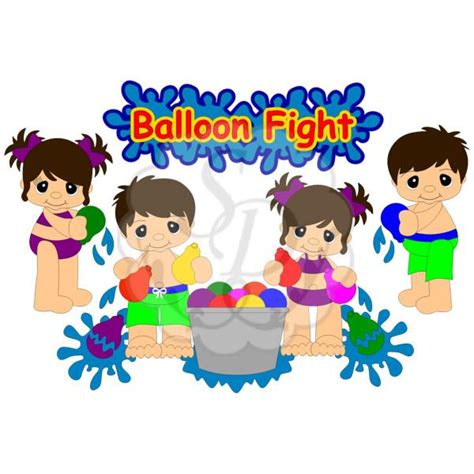 Water ballon play clipart images clipground