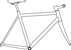 Bike Frame Template by Bike Frame Clip At Clker Vector Clip