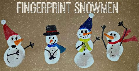 hands on crafts for christmas in the morning diy fingerprint snowman winter craft for crafty morning