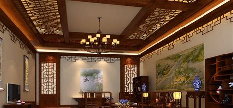 traditional ceiling and wall decoration
