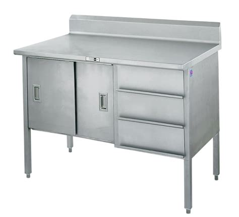 cabinet with stainless steel top stainless steel work enclosed base cabinet