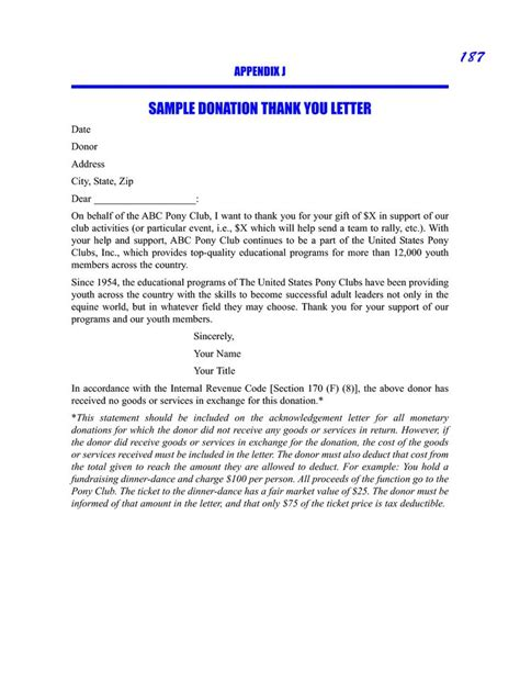 sle donation thank you request letter sle picture