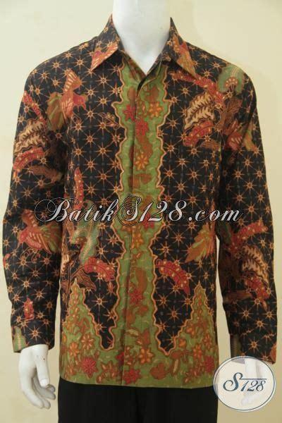 desain baju batik lelaki hem batik lelaki dewasa motif terbaru yang makin mewah
