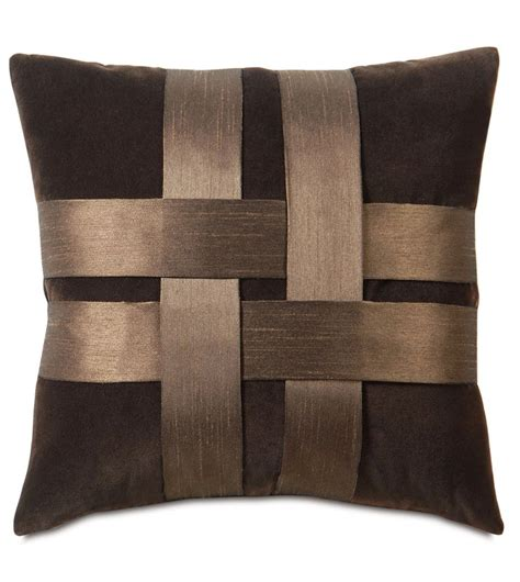 decorative bedding pillows here s an idea for basket weave detail these are silk