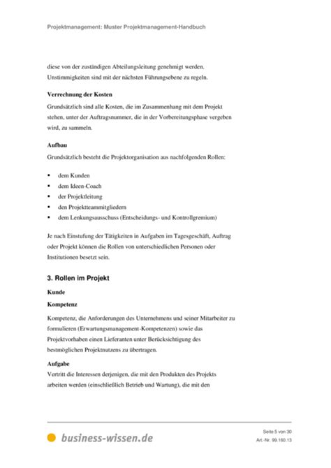 Management Paket 5 Ebook muster projektmanagement handbuch e book business