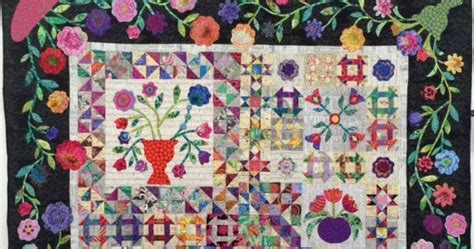 floral abundance quilt 9 blocks plus borders bonus pillow books sea quilts bom s patterns