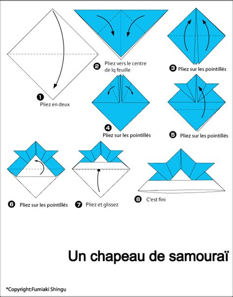 Origami Hat Samurai - hat samurai