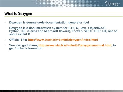 C Documentation Generator doxygen source code documentation generator tool