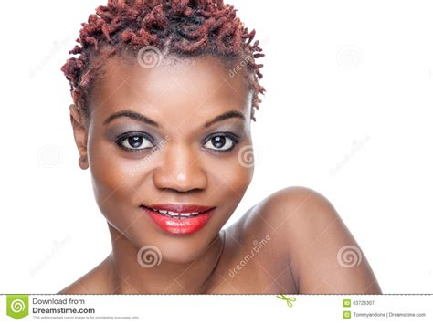 black people spiky short hair cuts black beauty with short spiky hair stock photo image