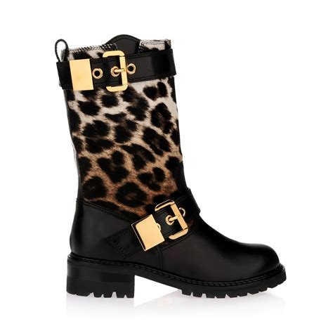 heels giuseppe zanotti black leopard calfhair and