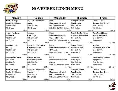 free school lunch menu templates school lunch menu school lunch ideas