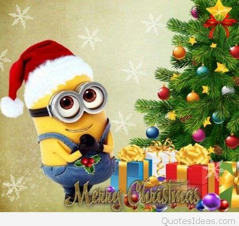 funny merry christmas minions wishes