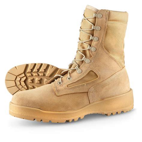 steel toe combat boots s wellco 174 waterproof weather steel toe desert