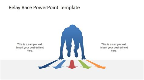 triathlon template runner start with multi colored arrows slidemodel