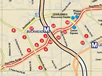 atlanta maps for downtown buckhead metro atlanta