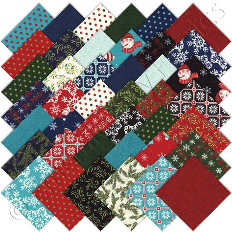 Moda Quilting Fabrics by Moda Be Jolly Charm Pack Emerald City Fabrics
