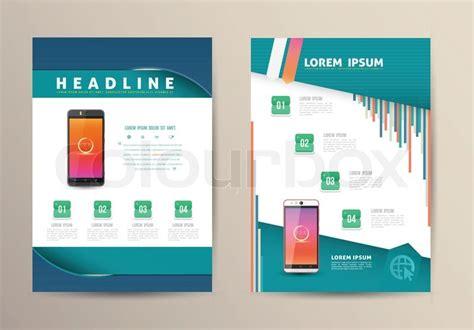 flyer design wiki brochure flyer design vector template with smartphone