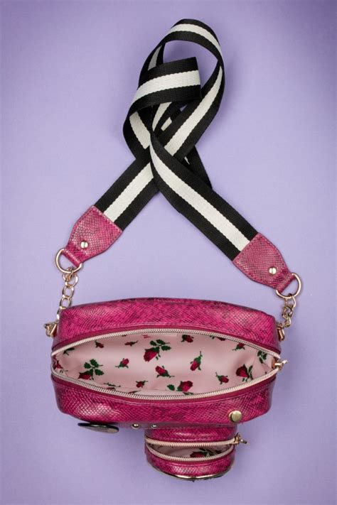 Betsey Johnson Lock It Up Purse by 60s Kitsch Up Bag In Pink