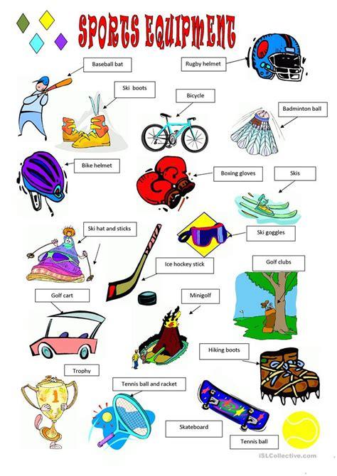 Sports Vocabulary Worksheet by Sports Equipment Worksheet Free Esl Printable Worksheets
